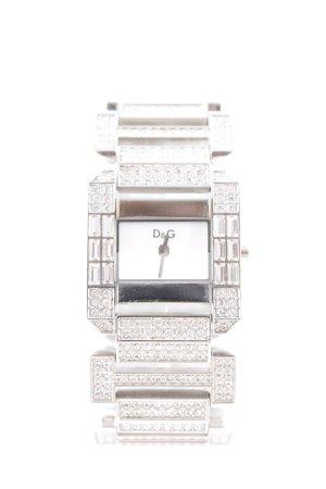 Dolce & Gabbana Uhr mit Metallband silberfarben Elegant