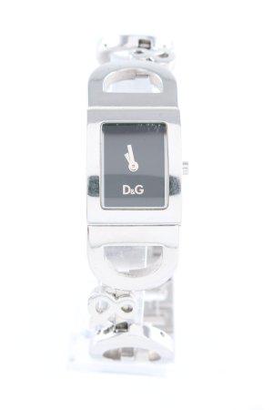 Dolce & Gabbana Uhr mit Metallband silberfarben-schwarz klassischer Stil