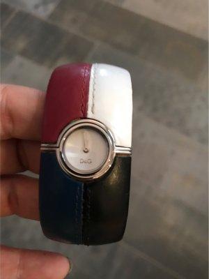 Dolce & Gabbana Uhr weiß, rot, blau, schwarz
