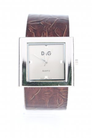 Dolce & Gabbana Watch Clasp dark brown-silver-colored casual look