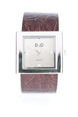 Dolce & Gabbana Uhrenspange dunkelbraun-silberfarben Casual-Look