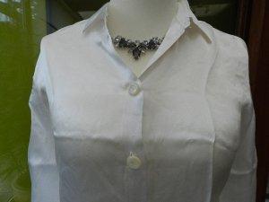 Dolce & Gabbana weiße Bluse in Seidenoptk - Gr. 38