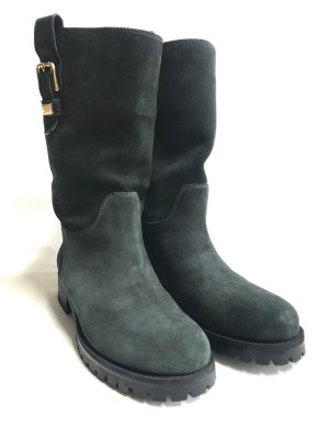Dolce & Gabbana High Boots petrol-anthracite suede