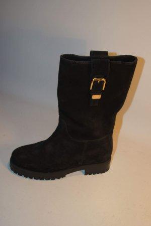 Dolce & Gabbana Wildleder Stiefel/ Boots schwarz Herbst / Winter