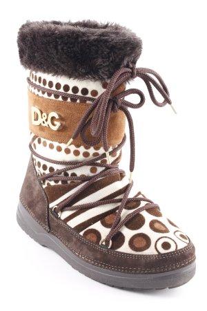 Dolce & Gabbana Winterstiefel Mustermix extravaganter Stil
