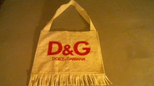 Dolce & Gabbana Canvas Bag red-oatmeal