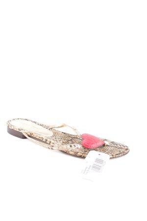 Dolce & Gabbana Zehentrenner-Sandalen Animalmuster extravaganter Stil