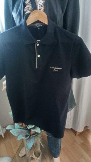 D&C Polo Shirt black cotton