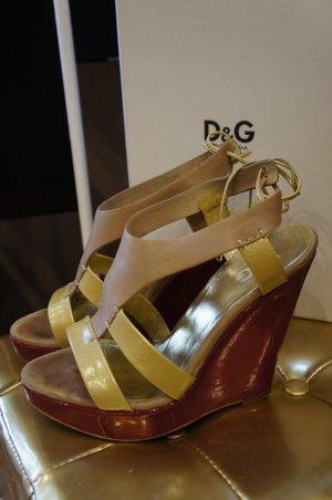 Dolce und Gabbana Schuhe Pumps 38,5 38 TOP!!! Wedge NP 695 €!!!!