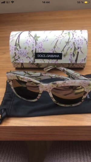 Dolce & Gabbana Retro Glasses pale green-white