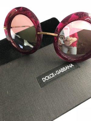 Dolce & Gabbana Ronde zonnebril roze Acetaat