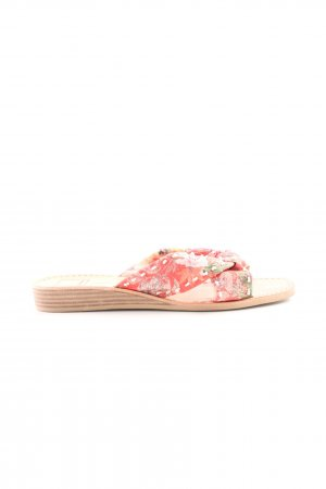 Dolce Vita Sabots salmon-white flower pattern casual look