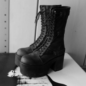 Dolls kill Current Mood Plateau Stiefel Gothic Punk