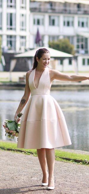 Asos Petite Babydoll Dress pink