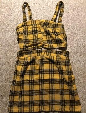 Camicia cropped giallo-nero
