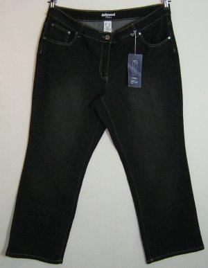 Dollywood Jeans Größe 24 K48 Paula Straight Cut Stretchbund Schwarz