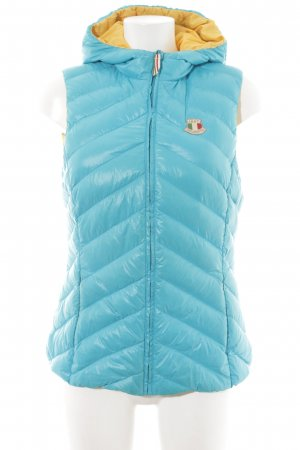 Dolomite Donsvest neon blauw-donkergeel casual uitstraling