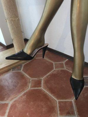 Vero Cuoio Heel Pantolettes black
