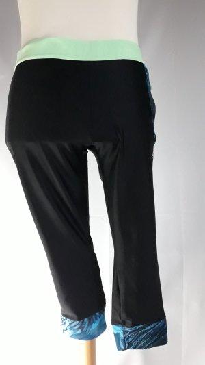 Domyos Pantalone da ginnastica nero-blu neon