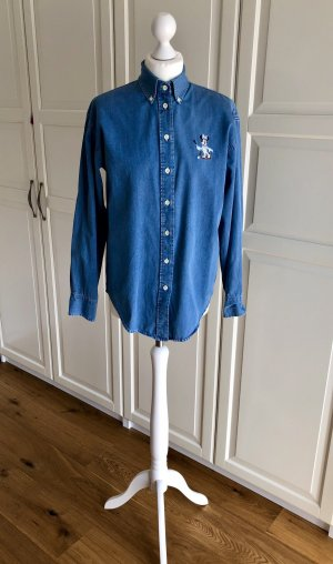 Donaldson Denim Blouse steel blue-cornflower blue