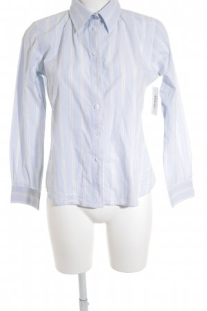Donaldson Hemd-Bluse himmelblau-wollweiß Streifenmuster Casual-Look