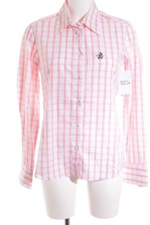 Donaldson Hemd-Bluse weiß-hellrosa Karomuster klassischer Stil