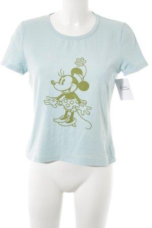 Donaldson T-Shirt babyblau-grüngrau Motivdruck Casual-Look
