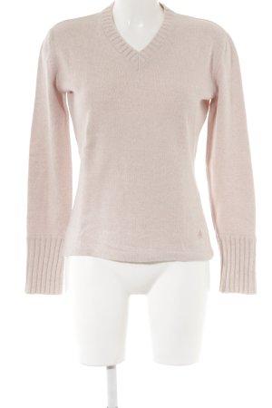 Donaldson V-Ausschnitt-Pullover rosé Kuschel-Optik