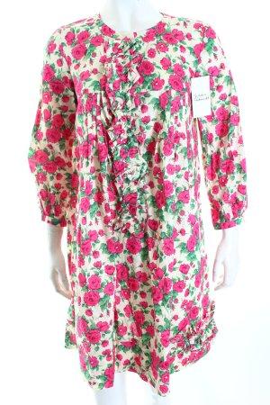 Dondup Blusenkleid pink-grün Blumenmuster Romantik-Look
