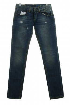 Dondup Boyfriendjeans stahlblau Street-Fashion-Look