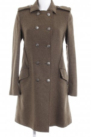 Dondup Heavy Pea Coat khaki elegant