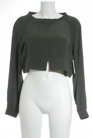 Dondup Cropped Shirt khaki-olivgrün Street-Fashion-Look