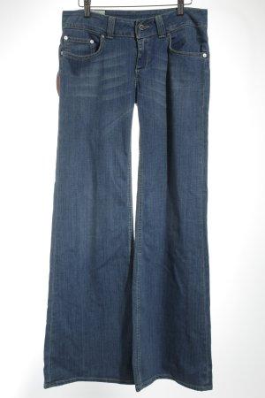 Dondup Jeans large bleu clair-blanc cassé coton