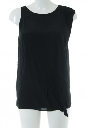 Dondup Schlupf-Bluse schwarz Business-Look