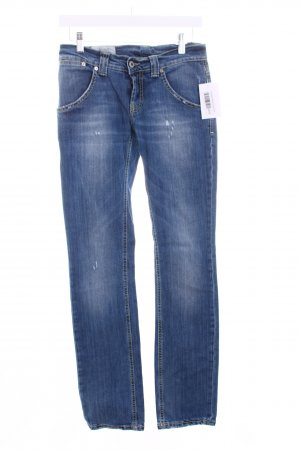 Dondup Slim Jeans blau Destroy-Optik