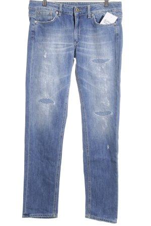 Dondup Jeans met rechte pijpen blauw casual uitstraling