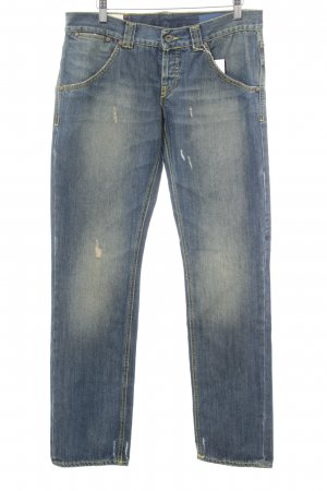 Dondup Straight-Leg Jeans stahlblau Casual-Look