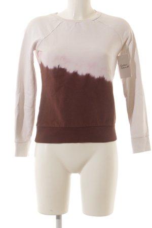 Dondup Sweatshirt weiß-dunkelrot Farbverlauf Urban-Look