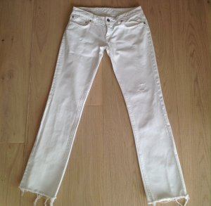 Dondup Jeans taille basse blanc