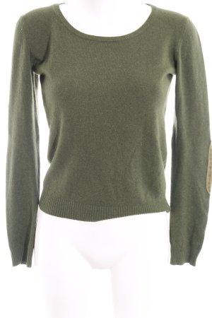 Dondup Wollpullover waldgrün-olivgrün Casual-Look