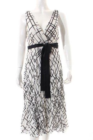 Donna by Hallhuber A-Linien Kleid schwarz-weiß abstraktes Muster Elegant