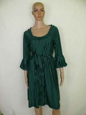 Donna by Hallhuber Midikleid Kleid Dress Stretch Casual Gr.40 Grün