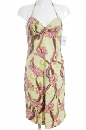 Donna by Hallhuber Halter Dress primrose-pink flower pattern beach look