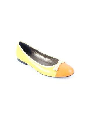 Donna Carolina Ballerinas gelb-orange Colourblocking Casual-Look