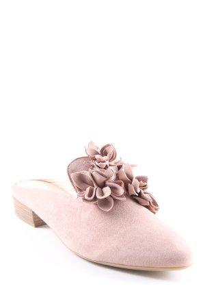 Donna Carolina Ballerinas mit Spitze altrosa Romantik-Look