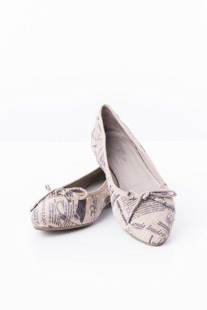 DONNA CAROLINA - Ballerinas Taupe mit Print