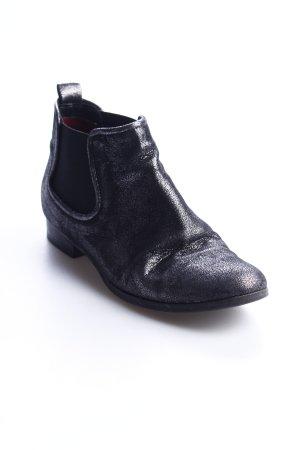 Donna carolina Chelsea Boots schwarz Glitzer-Optik