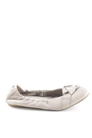 Donna Carolina faltbare Ballerinas beige schlichter Stil