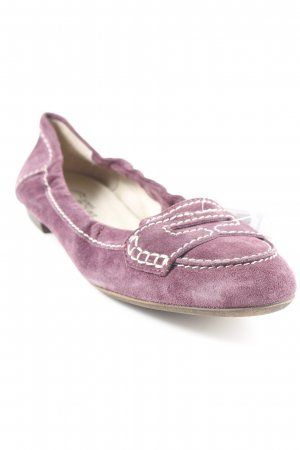 Donna Carolina faltbare Ballerinas blauviolett Casual-Look
