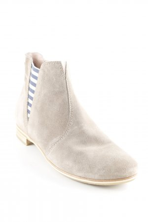Donna Carolina Stivaletto buskin beige-blu scuro motivo a righe stile casual